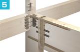 門型ラーメン構法、柱梁接合部