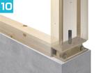 門型ラーメン構法、柱脚接合部